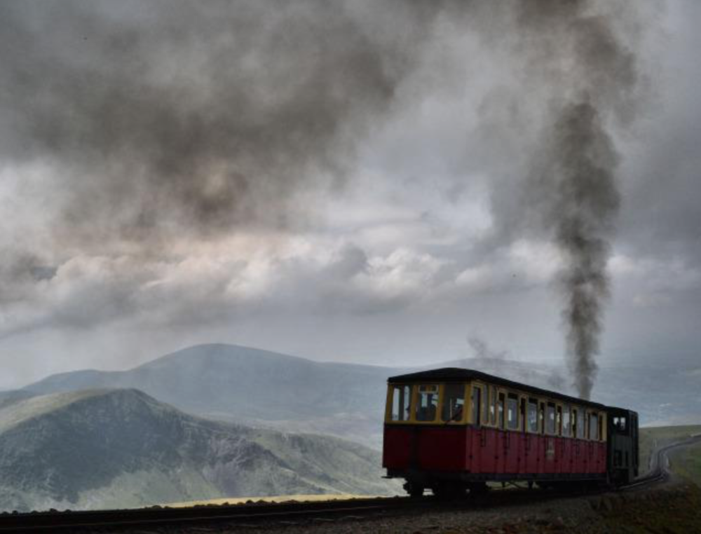 A moody Snowdon Mountain Railway, Photo by Tony Richards