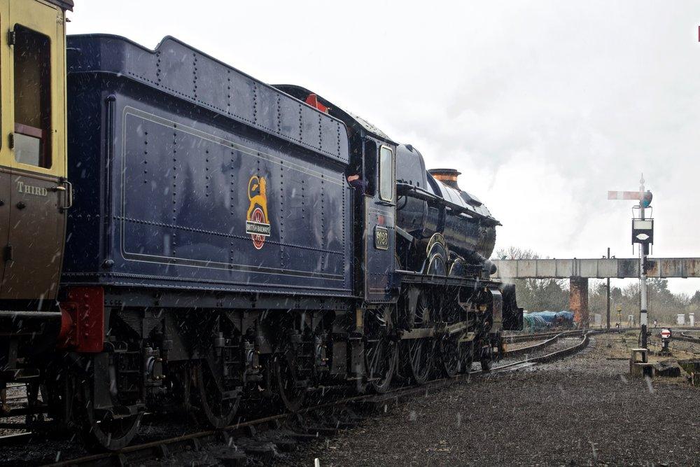 Number 6023 'King Edward II' getting ready to depart Kidderminster.