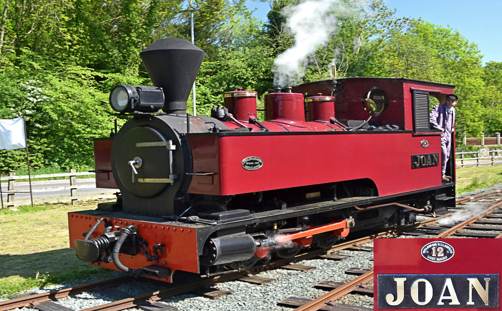 No 12 'Joan' -Welshpool and Llanfair Light Railway  Seen at Welshpool in May, running around her train in readiness for the return leg to Llanfair Caereinion, 'Joan'is a 1927 Kerr Stuart              tank built for use on sugar estates   in Antigua.  She commenced service on the W&L in 1977.