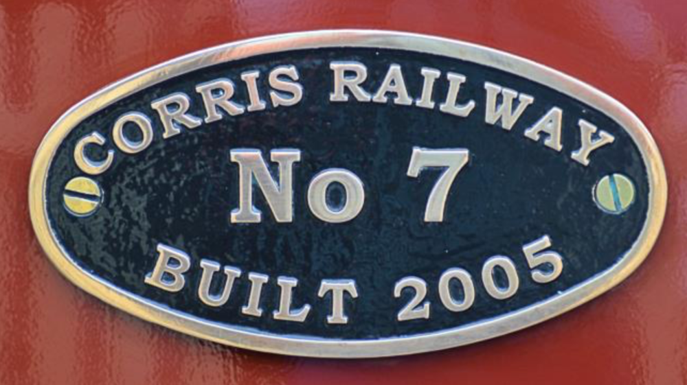 The Corris Railway's No 7 is an 0-4-2 Saddle tank built in 2005 at a cost of £125,000, No 7 is an updated replica of an original                            Corris locomotive [No4] built in 1921 and now running on the Talyllyn Railway as 'Edward Thomas'