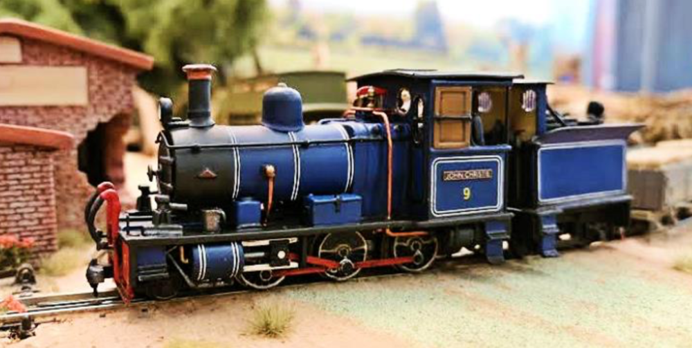Club member Daniel Thomas' beautiful kit-built OO9 loco, seen on 'Amiens', the 'Best in Show' exhibit at the 2018 show.