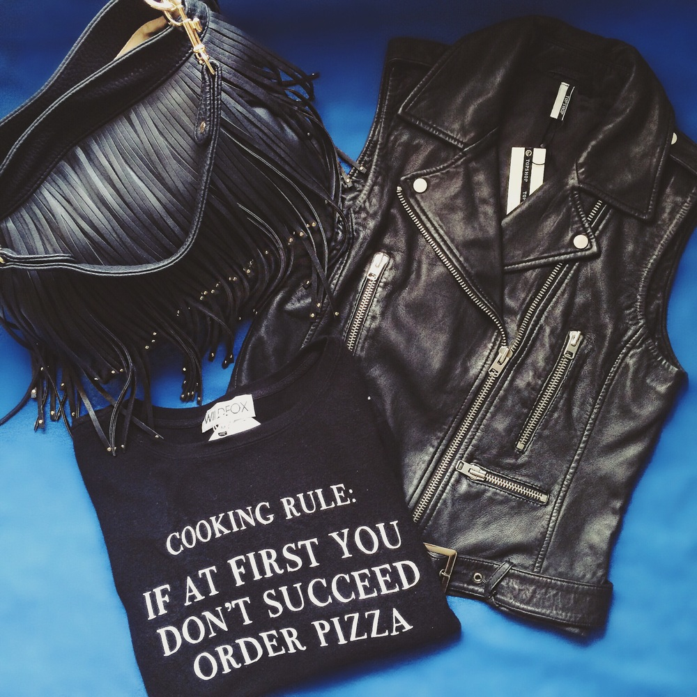 Some personal picks...I (jack) couldn't walk away from the Wildfox sweatshirt found  here  or this Topshop leather vest  here !