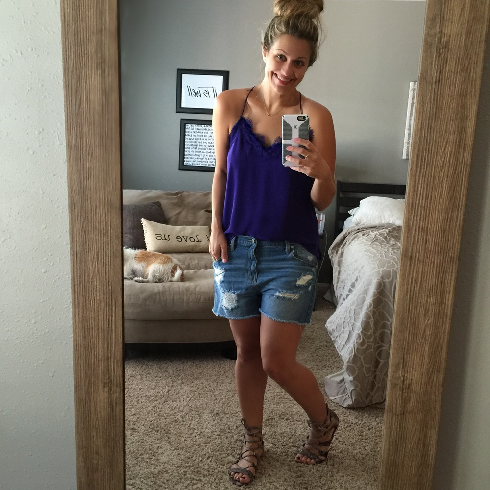 Shorts:  Target  Sandals:  Topshop