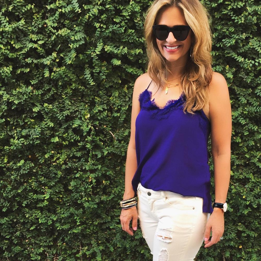 Jeans:  Vigoss  Bracelets:  Kendra Scott  Sunglasses:  Nordstrom