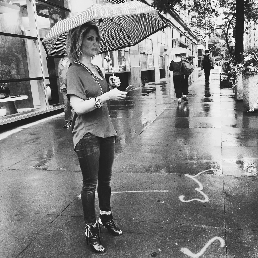 NYC street style in the rain.