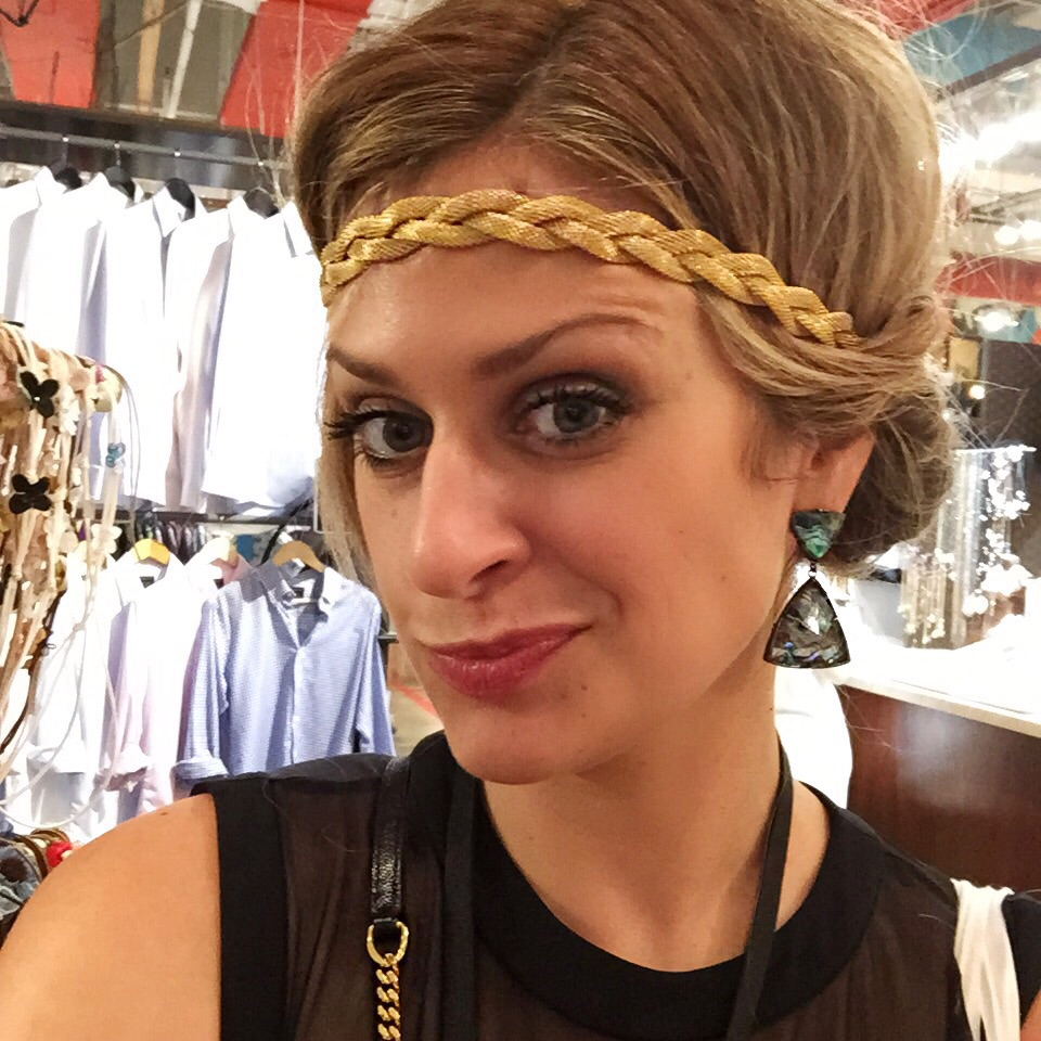The owner of this retailer allowed us to Periscope her styling my hair into this headband. She was as eclectic as her selection and fun! Did anyone catch the donut headband during that Periscope?! Ha!