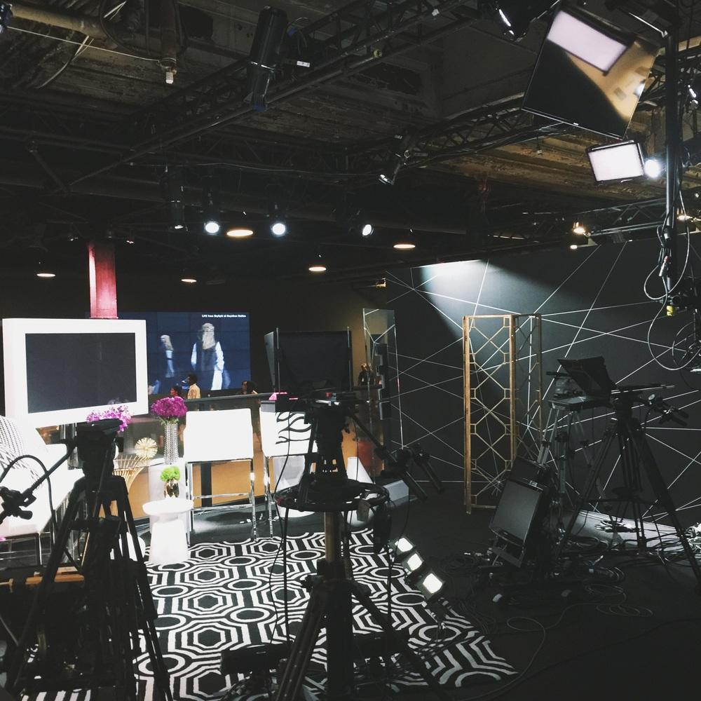 E! Studios inside