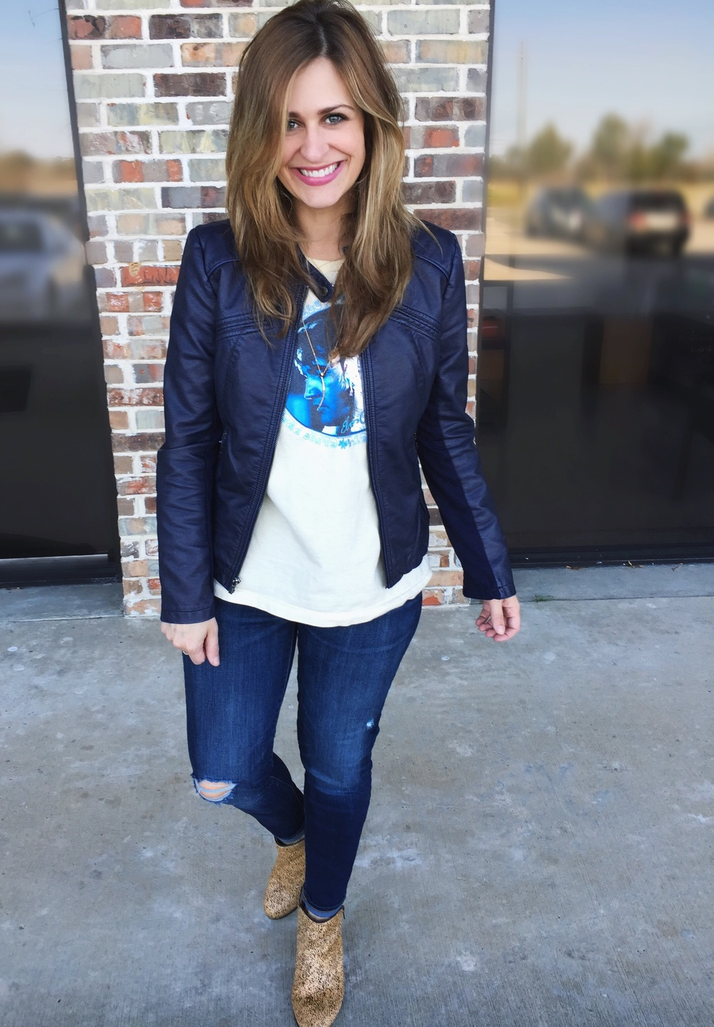 Jacket:  Express  Jeans:  Gap  Booties: Sole Society (old, similar  here )