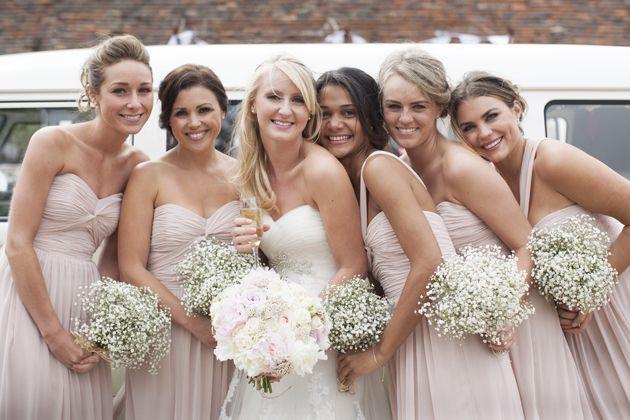 Rustic Wedding Flower Trend Babys Breath Serena Rose Flowers By Jamie