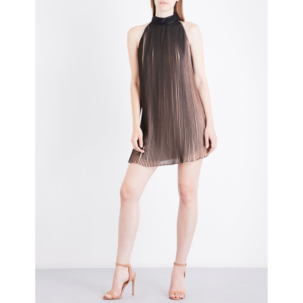 KENDALL & KYLIE Pleated crepe mini dress_£280.jpg