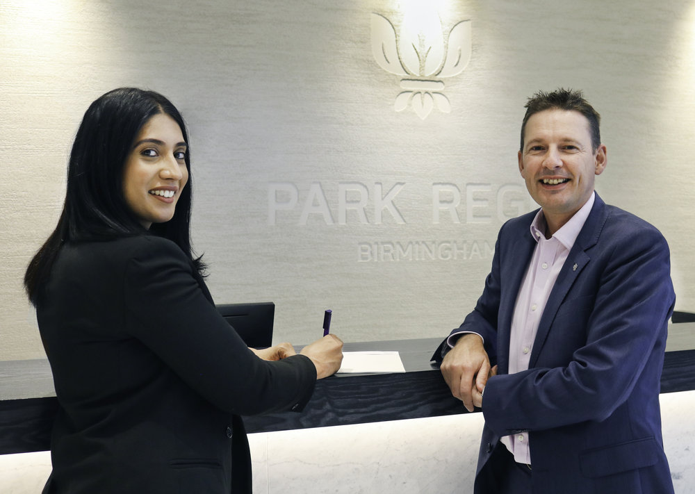 Shamim Hm, Group Director of Five Rivers & Mark Payne, GM of Park Regis Birmingham pic 1.jpg