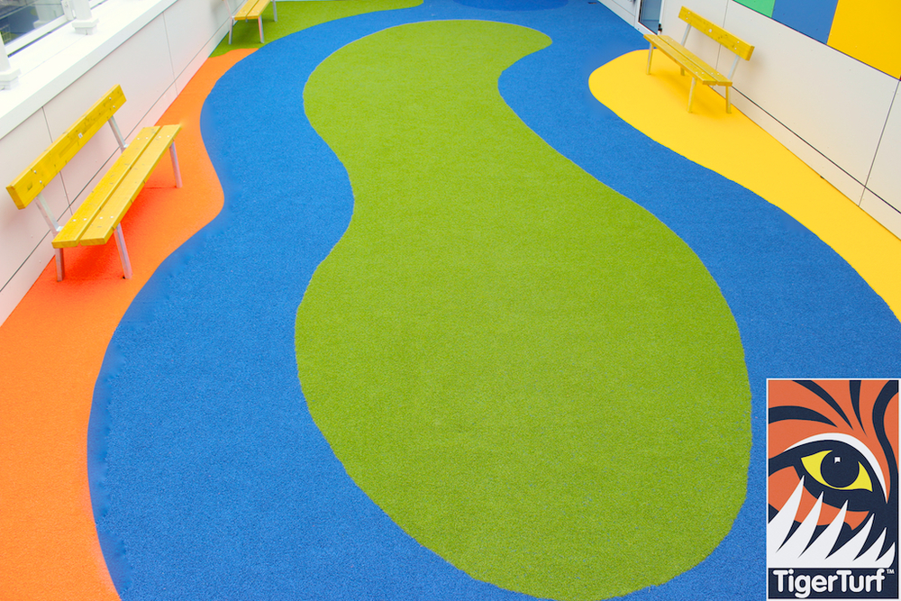 Play area with Blue track