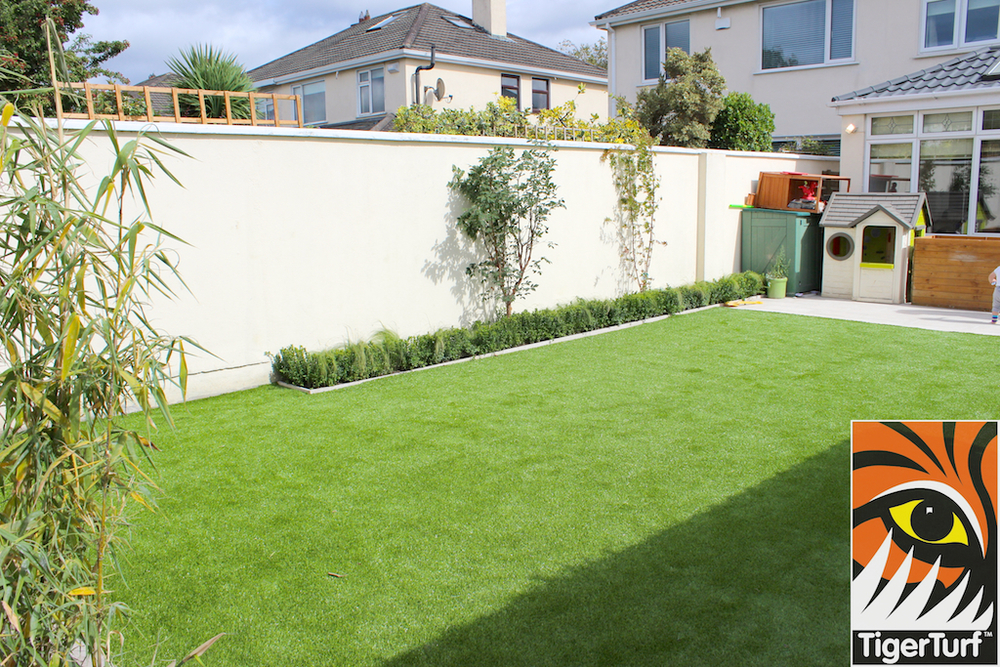 TigerTurf lawn after install
