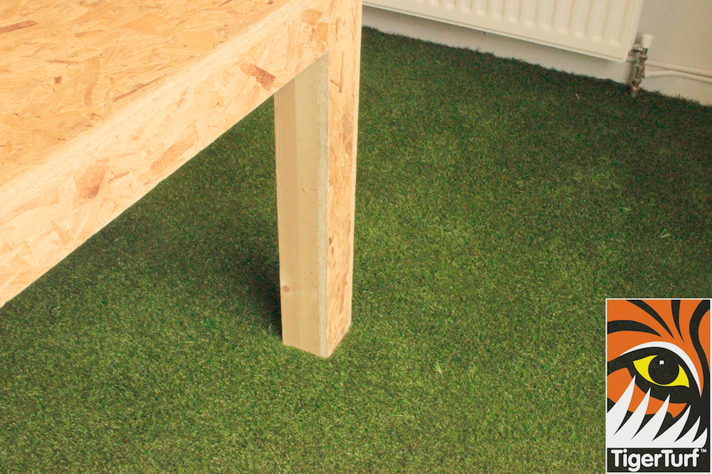 table and TigerTurf