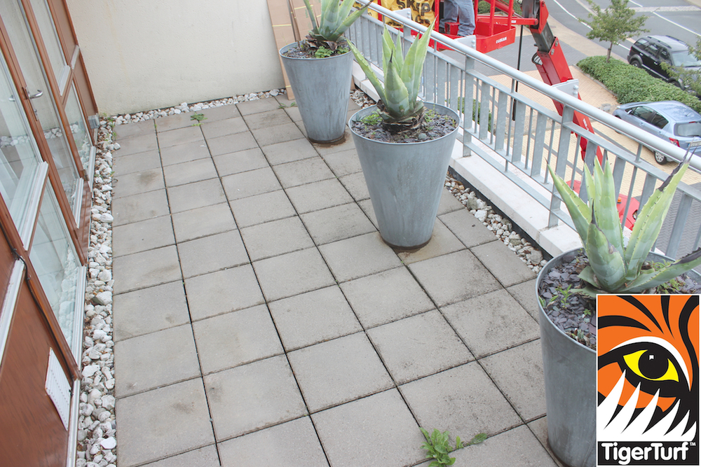 dull concrete paving prior to installation
