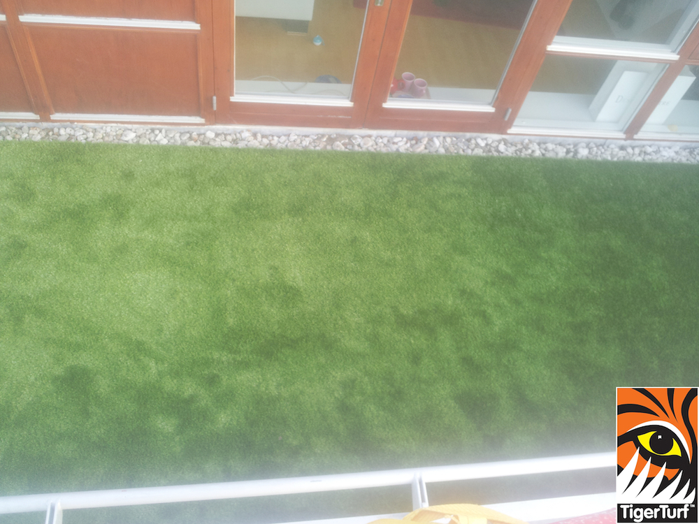 Tigerturf grass on veranda patio