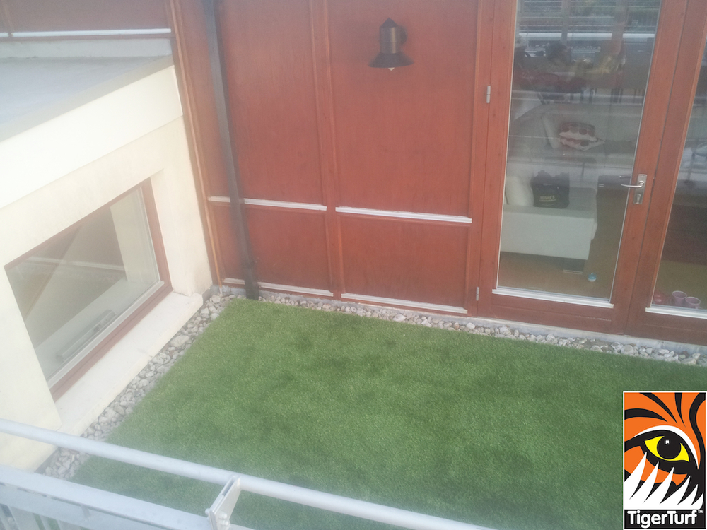 Tigerturf Finesse Deluxe on balcony patio