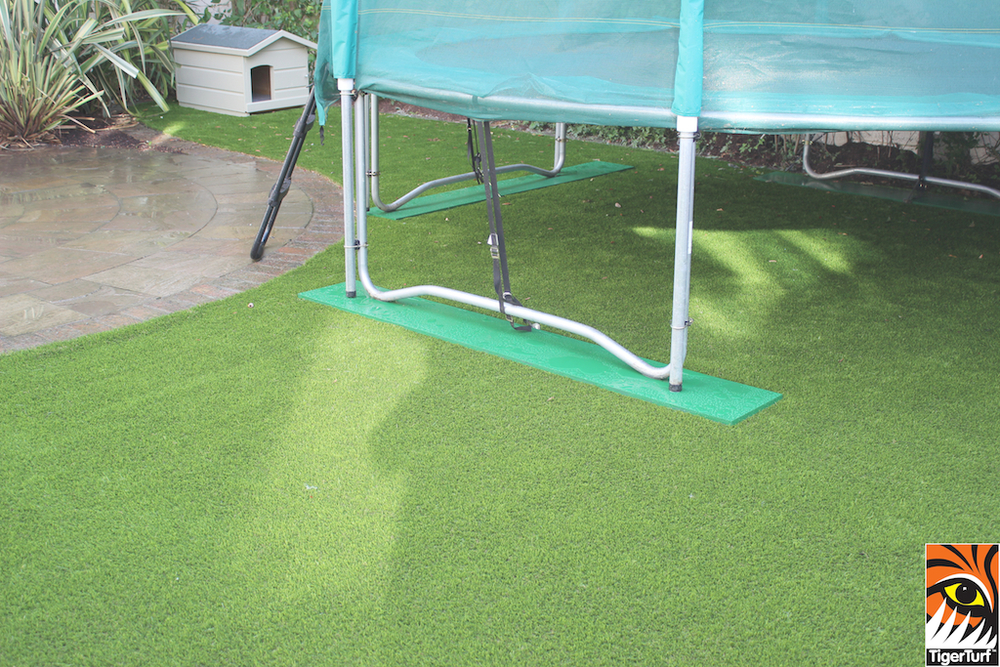 Trampoline and TigerTurf