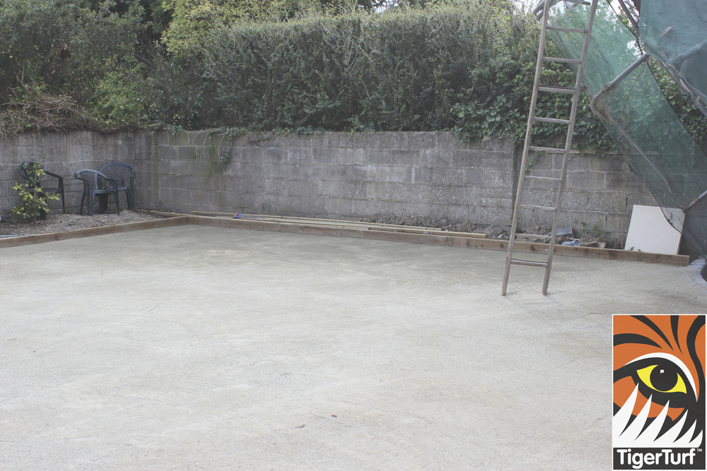 screeded base for grass