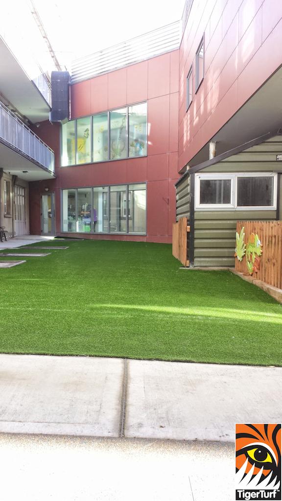 new courtyard lawn turf in Crumlin hospital