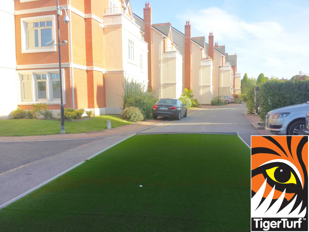 Measuring TigerTurf for lawn installation