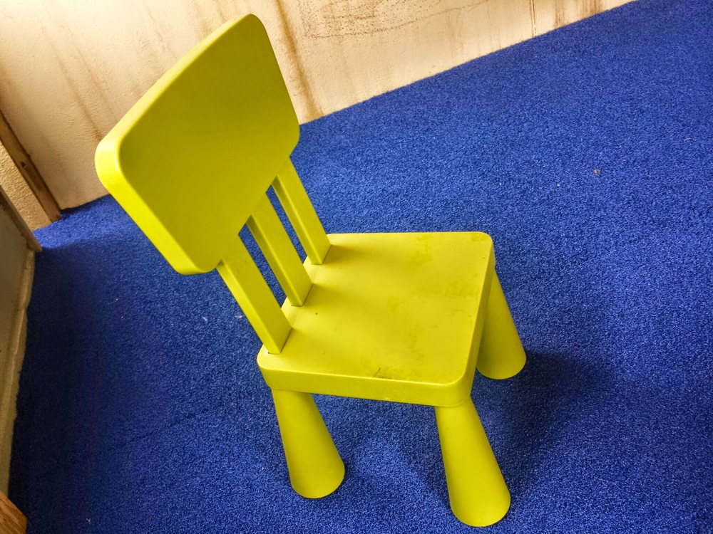 green play chair