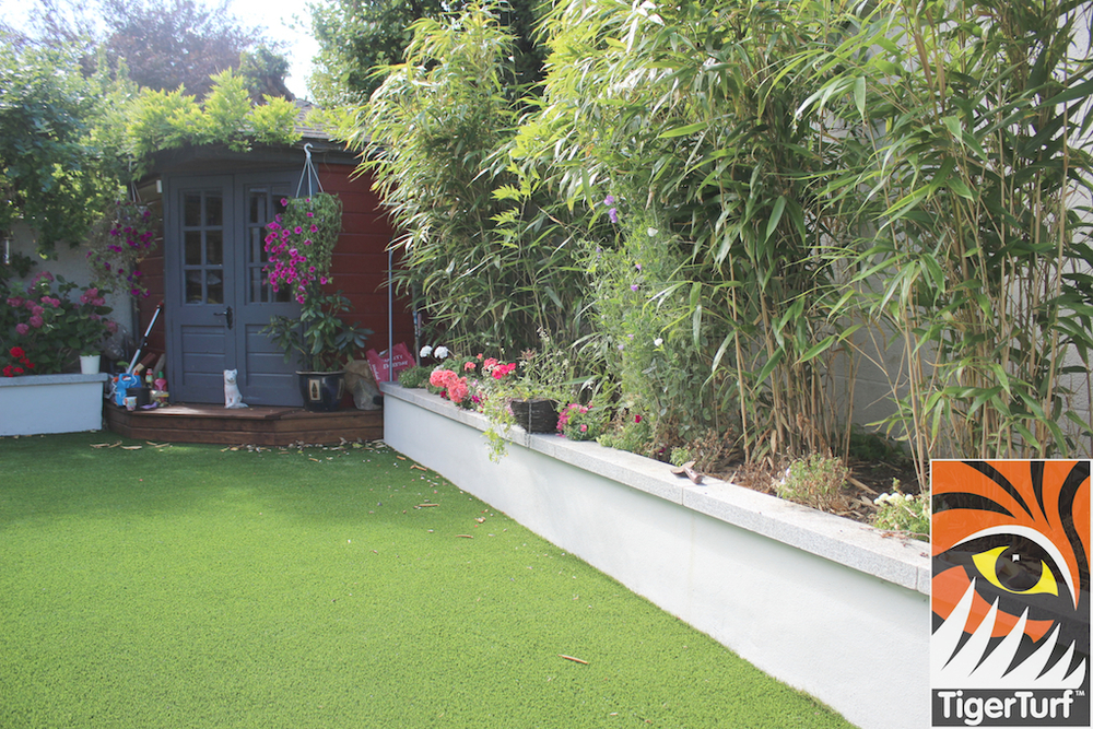 Bamboo and synthetic Grass installation