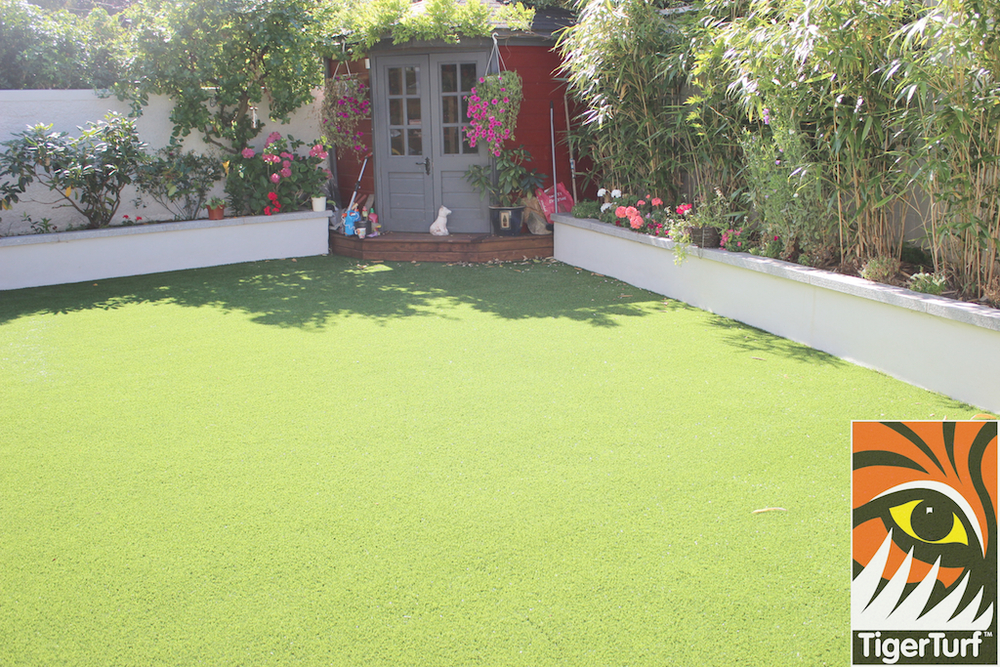 TigerTurf Lawn fully installed