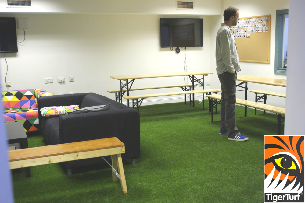 TigerTurf indoors at team building area