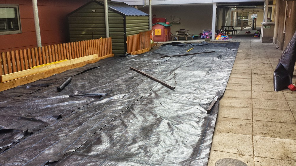 geotextile underlay for grass