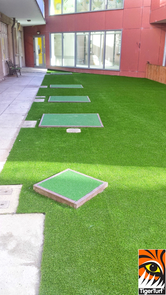 crumb rubber surfacing for new grass