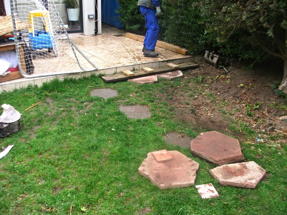 garden before installation of grass
