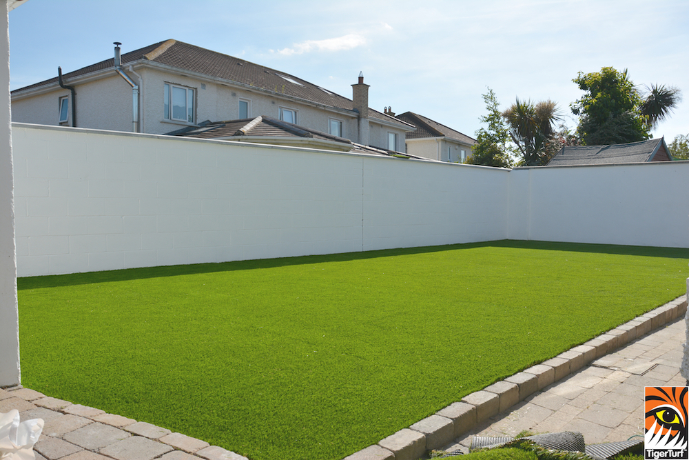 TigerTurf Lawn installed in garden