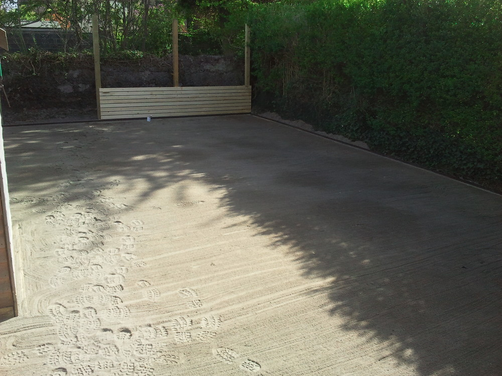 sand application ontop of limestone