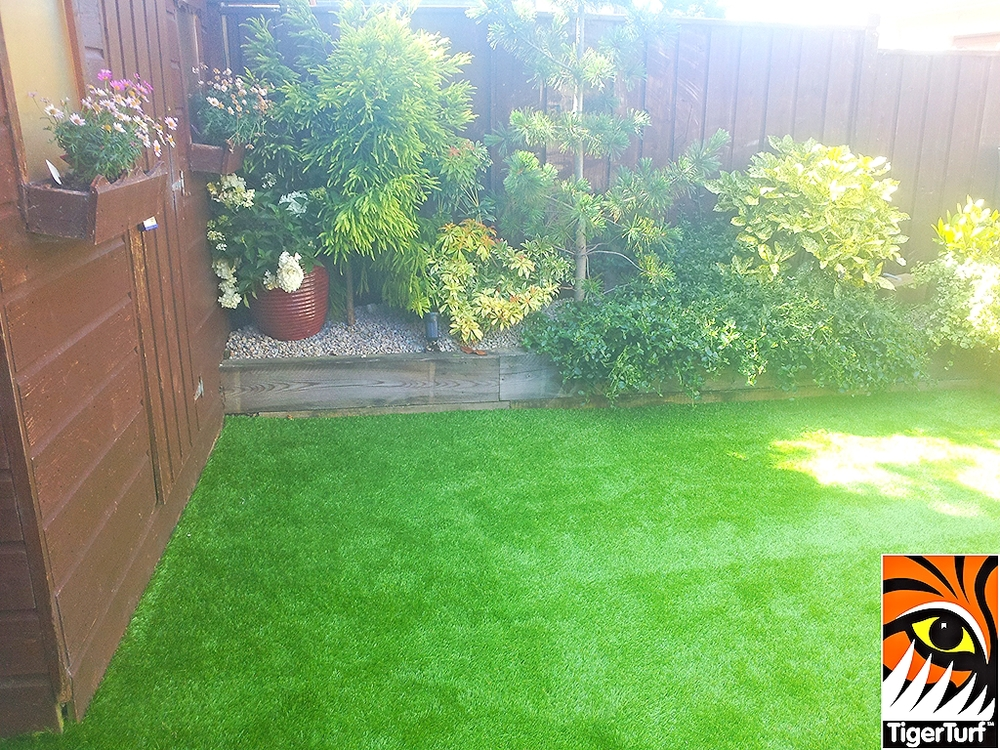 grass lawn and sleepers