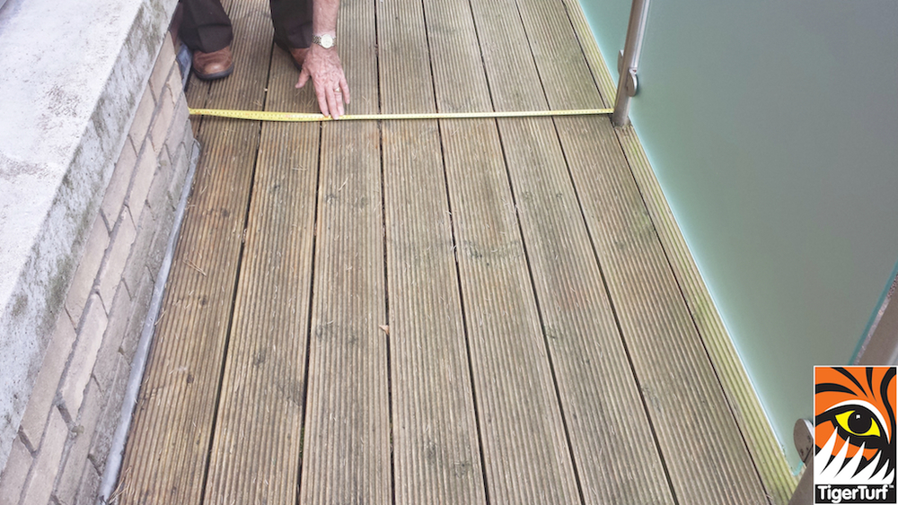 measuring new balcony deck