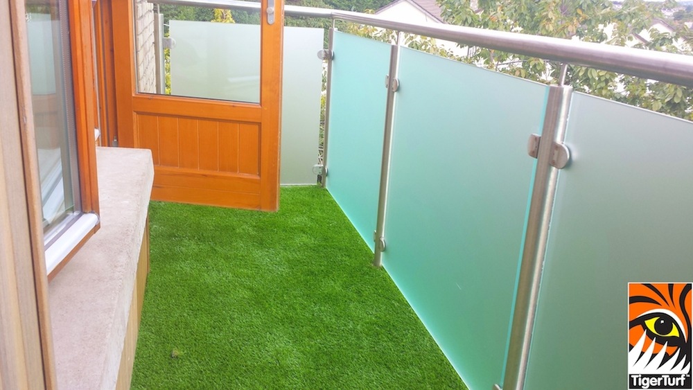 synthetic TigerTurf on Balcony deck