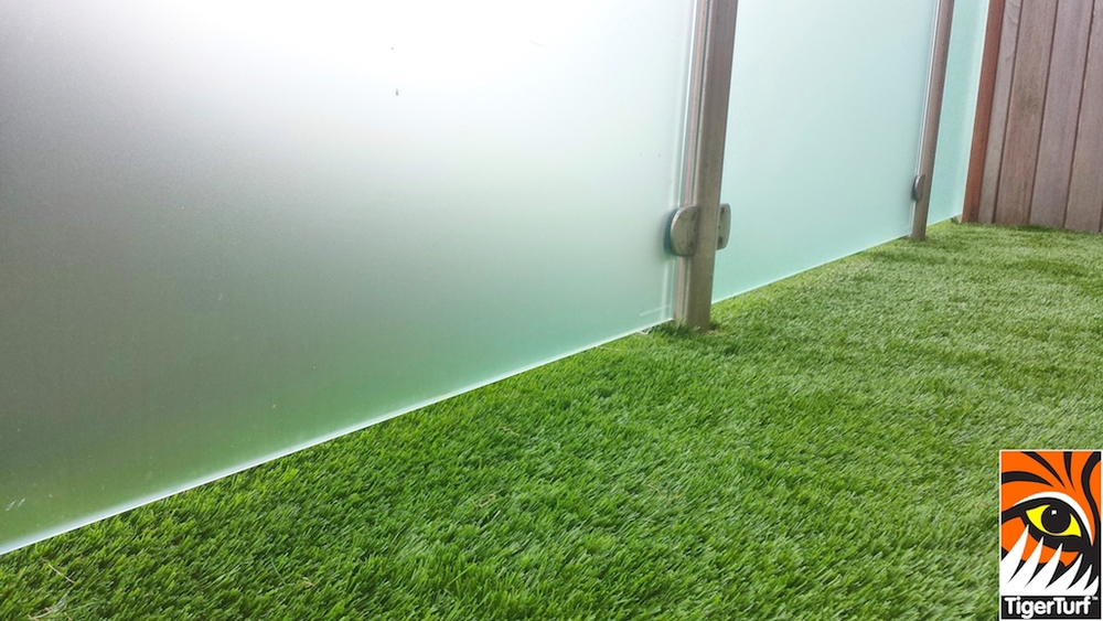 close up of balcony synthetic grass