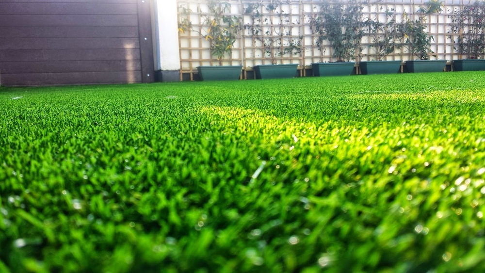 grass on balcony