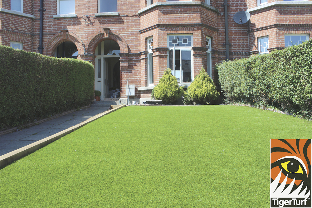 front of house with TigerTurf
