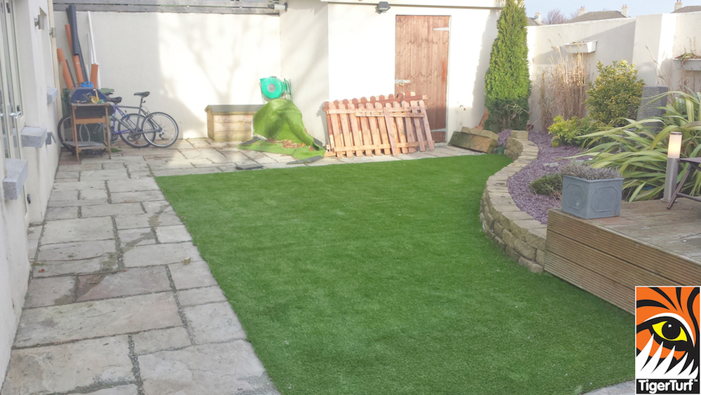 Synthetic Grass Turf installation