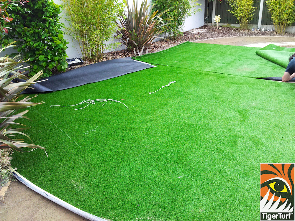 Installing Synthetic Garden Grass