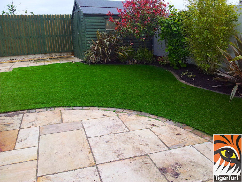 Natural Sandstone Patio and grass
