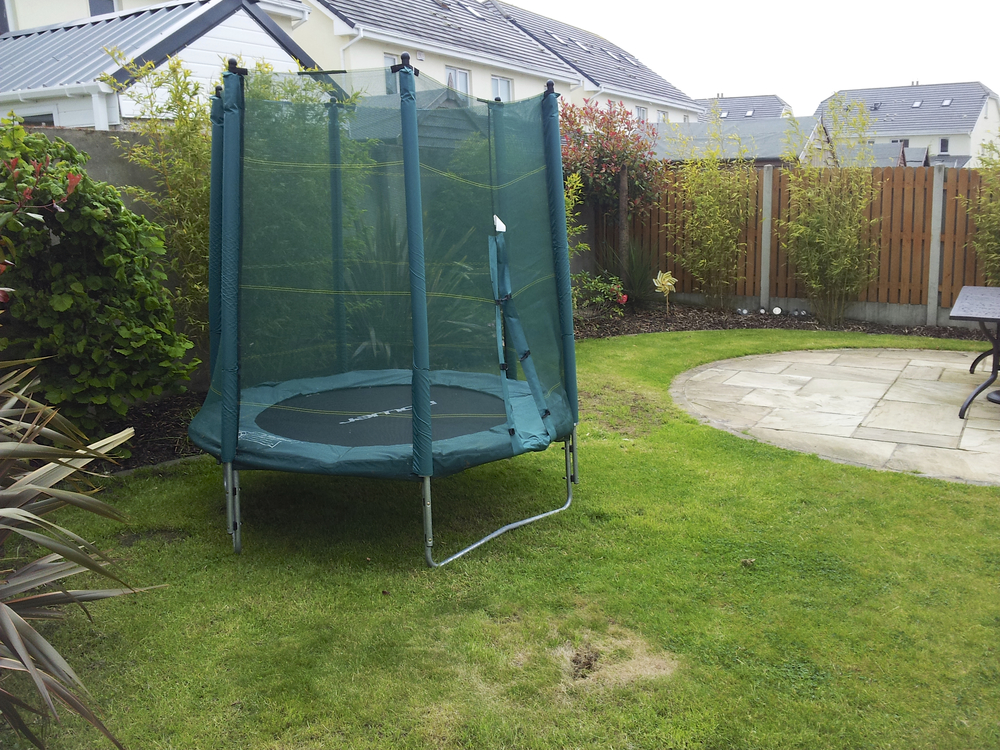 lawn and Trampoline