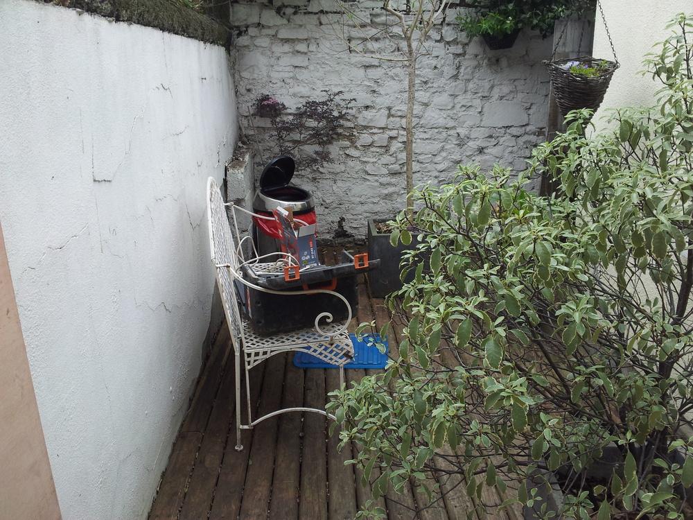 Garden timber deck