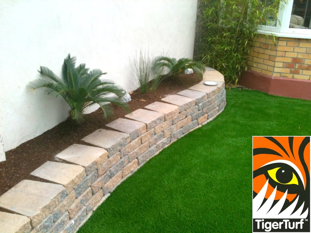 raised bed and TigerTurf Lawn