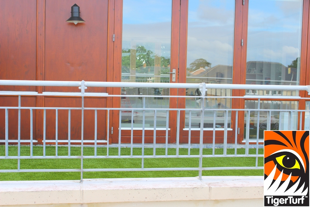 TigerTurf synthetic grass on balcony