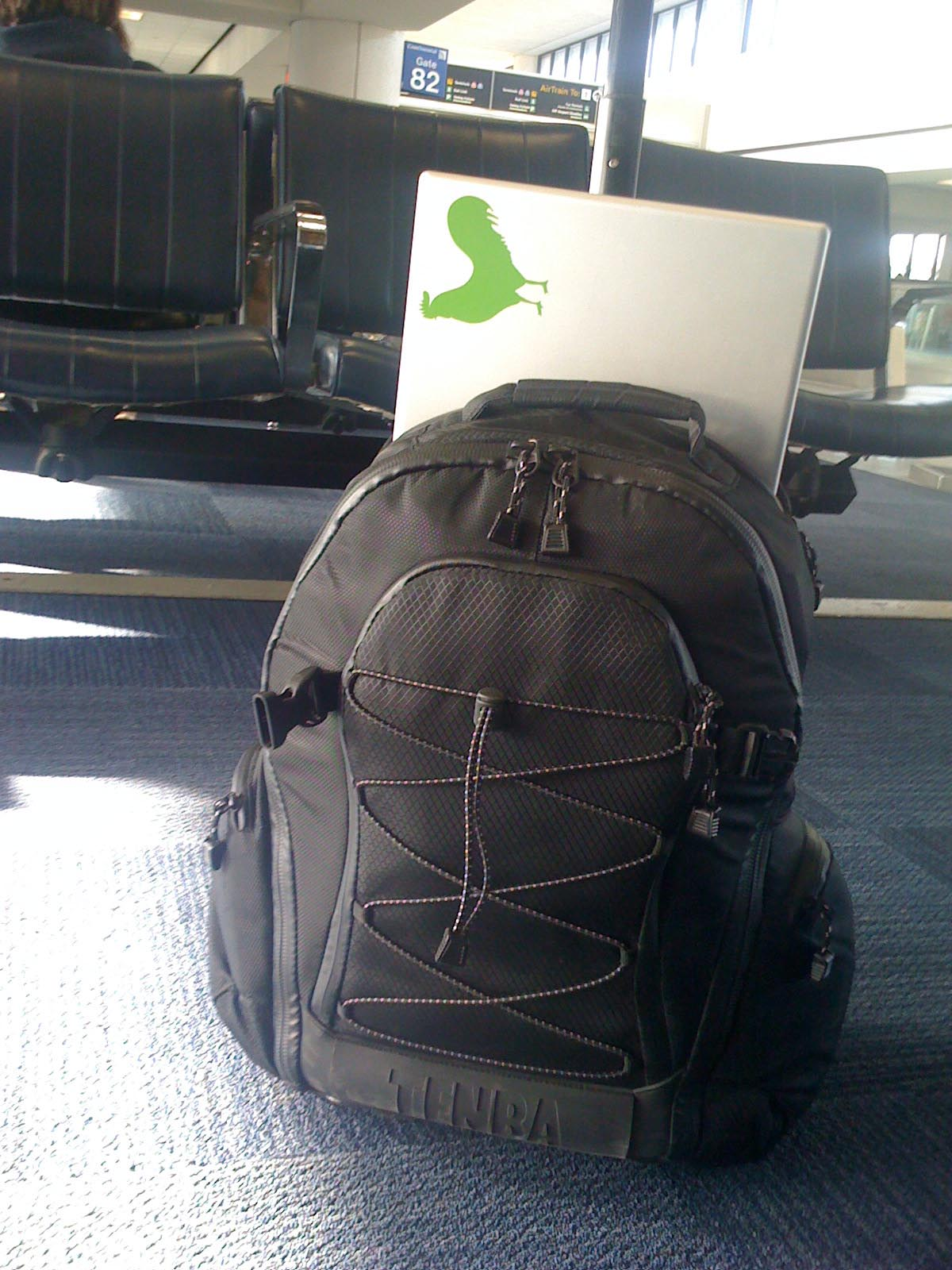 Tenba Shootout Medium Rolling Backpack @ Newark Airport