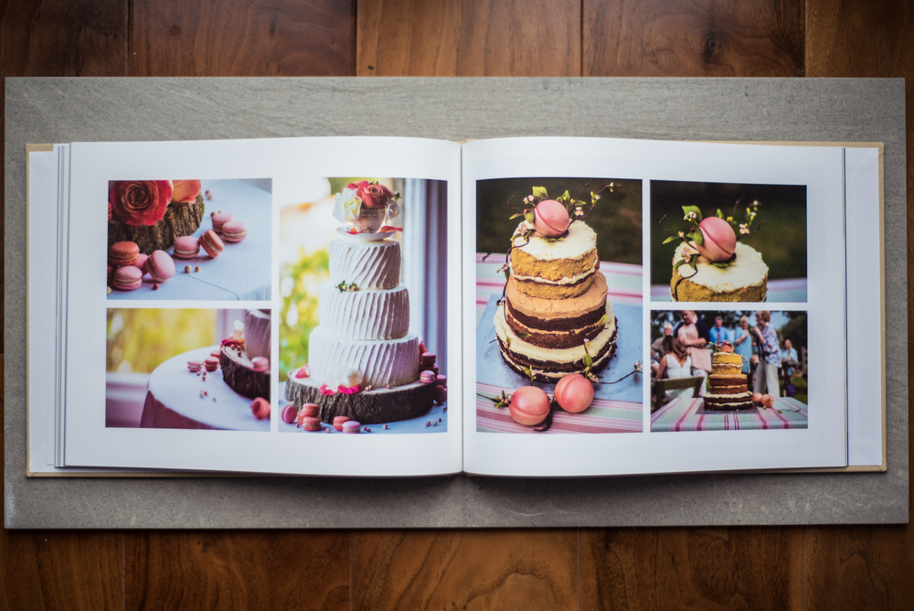 Wedding Album Cake Spread