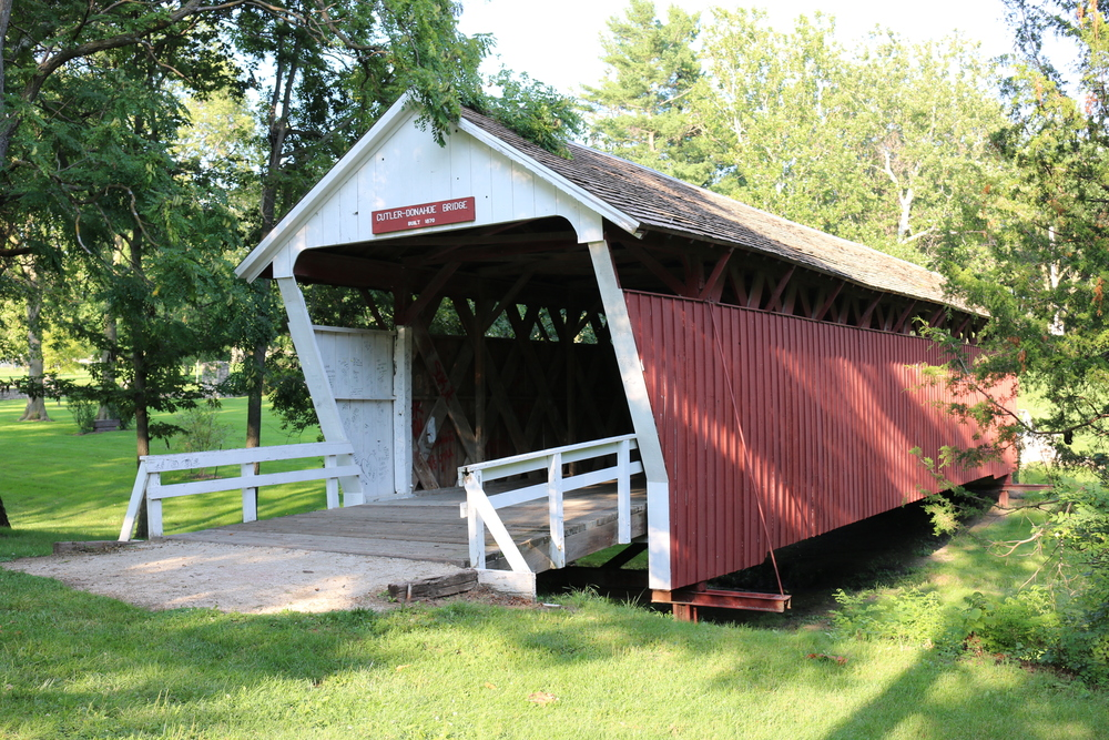 One of the remaining covered bridges in Madison County, IA.